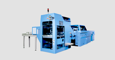 Prinova Saddle Stitcher Produce (Ultra) Short Runs Efficiently with Perfetto Compensating Stacker